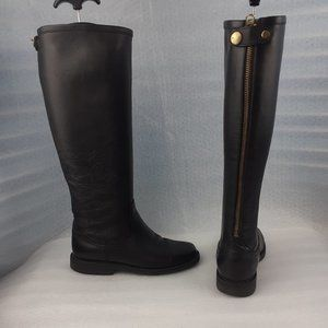 💯%Leather ROOTS Riverside Black Tall Boot 7.5us